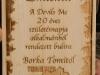 fa emléktábla a Devils motoros klubb részére/1