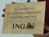 ING Bank részére készült arany-fekete műanyag tábla /1
