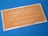 Szerszám kollégiumi bronz tábla homoköntéséhez
