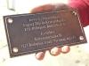 Öntött bronztábla a csepeli önkormányzat részére.