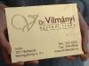 Rézből készült cégtábla a Dr. Vilmányi ügyvédi iroda részére.
