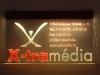 Élvilágító tábla az X-tramédia részére.
