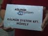 Gravírozott műanyag tábla a Kálmán System Kft. részére.