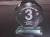 Lézer gravírozott üveg díj    Budapesten