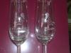 Gravírozott üvegpohár